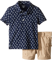 Ralph Lauren Baby - Printed Jersey Anchor Shorts Set (Infant)