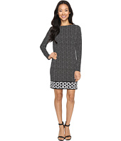MICHAEL Michael Kors - Nezla Long Sleeve Boat Neck Border Dress