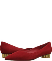 Salvatore Ferragamo - Suede Low-Heel Pump