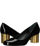 Salvatore Ferragamo - Patent Leather Mid-Heel Pump