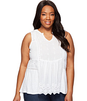 Lucky Brand - Plus Size Woven Mixed Shell
