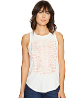Lucky Brand - Coral Embroidered Tank Top