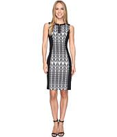 Calvin Klein - 1/2 Zip Jacquard Sheath Dress