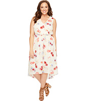 Lucky Brand - Plus Size Floral Printed Maxi Dress