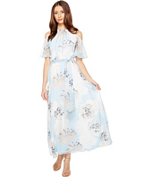 Calvin Klein - Printed Maxi with Cold Shoulder Flutter Sleeve Dress