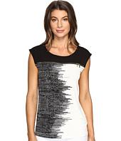 Calvin Klein - Extended Shoulder Print Top with Zip