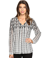 Calvin Klein - Print Long Sleeve with Invert Pleat Top