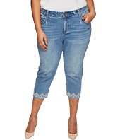 Lucky Brand - Plus Size Emma Crop Jeans in Blue Palms