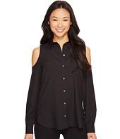 Calvin Klein - Long Sleeve Cold Shoulder Button Down Blouse