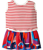Junior Gaultier - Striped/Color Block Front and Back Printed Dress (Toddler/Little Kids)