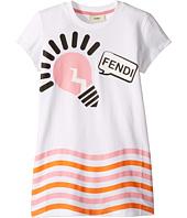 Fendi Kids - Short Sleeve Logo Light Bulb Graphic T-Shirt (Little Kids)