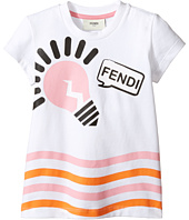 Fendi Kids - Short Sleeve Logo Light Bulb Graphic T-Shirt (Toddler)
