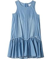 Chloe Kids - Denim Effect Sleeveless Dress From Adult Collection (Big Kids)