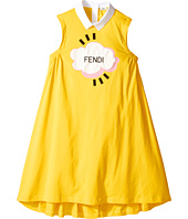 Fendi Kids - Sleeveless Collar Logo Graphic Dress (Big Kids)