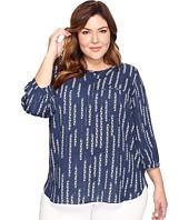 NYDJ Plus Size - Plus Size 3/4 Sleeve Pleat Back Top