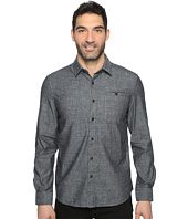 Kenneth Cole Sportswear - Long Sleeve Button Down Collar Solid Flannel