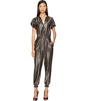 Just Cavalli - Flutter Short Sleeve Metallic Jumpsuit
