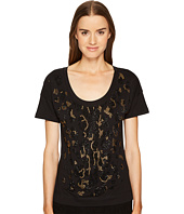 Just Cavalli - Short Sleeve Animal Placed Embellishments Tee