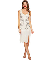 Unique Vintage - Sateen Beaded Eli Flapper Dress