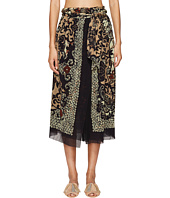 FUZZI - Wrap Skirt in Dragonessa Print