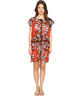 FUZZI - Single Layer Off the Shoulder Flower Print Cover-Up