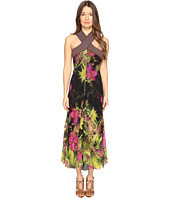 FUZZI - Tropical Flower Print Crisscross Top Long Dress
