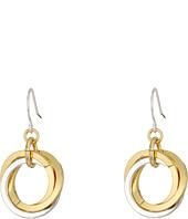 LAUREN Ralph Lauren - Stereo Hearts Small Interlock Links Drop Earrings