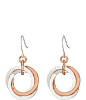 LAUREN Ralph Lauren - Stereo Hearts Small Interlock Links Drop Earrings