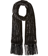 Calvin Klein - Velvet Burnout Wrap with Fringe