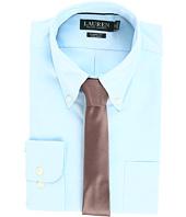 LAUREN Ralph Lauren - Non Iron Pinpoint Classic Fit Button Down Collar Dress Shirt