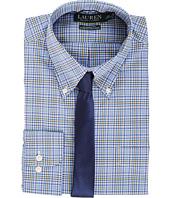 LAUREN Ralph Lauren - Non Iron Poplin Stretch Classic Fit Button Down Collar Stripe Dress Shirt