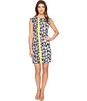 London Times - Stem Petals Cap Sleeve Sheath Dress