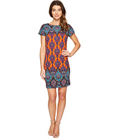 London Times - Paisley Torch Short Sleeve Shift Dress