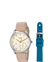 Timex - IQ+ Move Leather Strap with Extra Silicone Strap