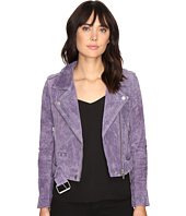 Blank NYC - Real Suede Moto Jacket in Purple Haze
