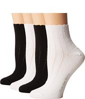 HUE - Scalloped Tipped Socks 4-Pack