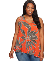 Karen Kane Plus - Plus Size V-Neck Asymmetric Tank Top