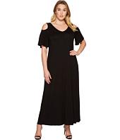 Karen Kane Plus - Plus Size Cold Shoulder Maxi Dress