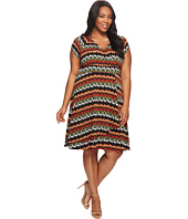 Karen Kane Plus - Plus Size Cascade Drape Dress