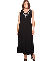 Karen Kane Plus - Plus Size Embroidered Alana Maxi Dress