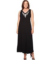 Karen Kane Plus - Plus Size Embroidered Alana Maxi Dress