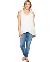 Karen Kane Plus - Plus Size Lace Yoke Crossover Top