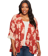 B Collection by Bobeau Curvy - Plus Size Waterfall Lightweight Jacket