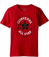 Converse Kids - Snow Yarn Chuck Patch Tee (Big Kids)