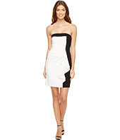 Aidan Mattox - Color Block Strapless Cocktail Dress