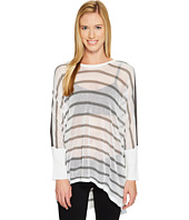 Blanc Noir - Stripe Drape Sweater