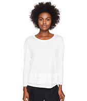 Sonia Rykiel - Tencel Cotton Sweater w/ Frills