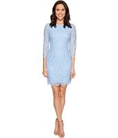 Adrianna Papell - Long Sleeve Metallic Lace Sheath Dress
