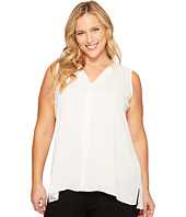 B Collection by Bobeau Curvy - Plus Size Lily Pleat Back Woven Tank Top