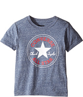 Converse Kids - Snow Yarn Chuck Patch Tee (Toddler/Little Kids)